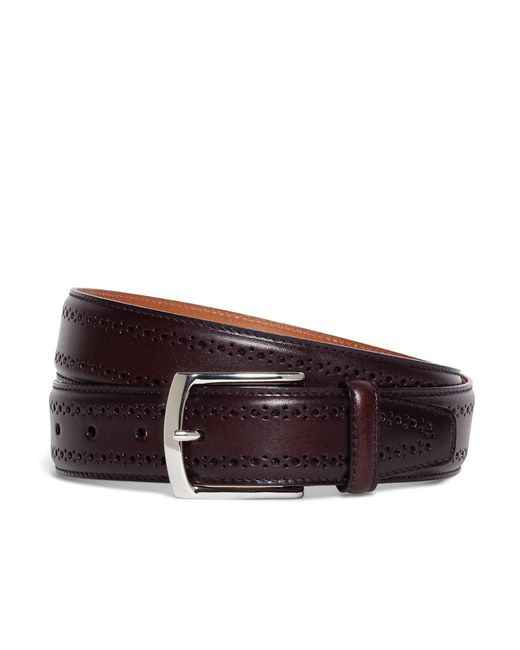 Brooks Brothers | Purple Allen Edmonds Perforated Belt for Men | Lyst