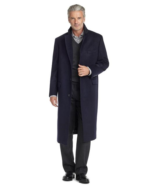 Brooks Brothers | Blue Golden Fleece® Brooksstorm® Westbury Cashmere Overcoat for Men | Lyst