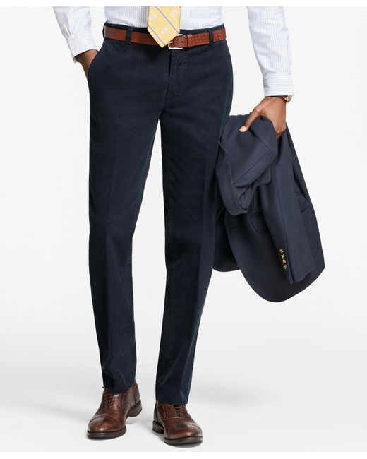 Brooks Brothers | Blue Milano Fit Fine Wale Stretch Corduroys for Men | Lyst