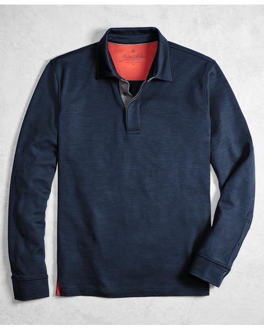 Brooks Brothers - Blue Golden Fleece® Brookstech Performance Interlock Long-sleeve Polo Shirt for Men - Lyst