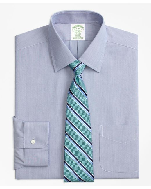 Brooks brothers stretch milano slim fit dress shirt non for Non iron slim fit dress shirts