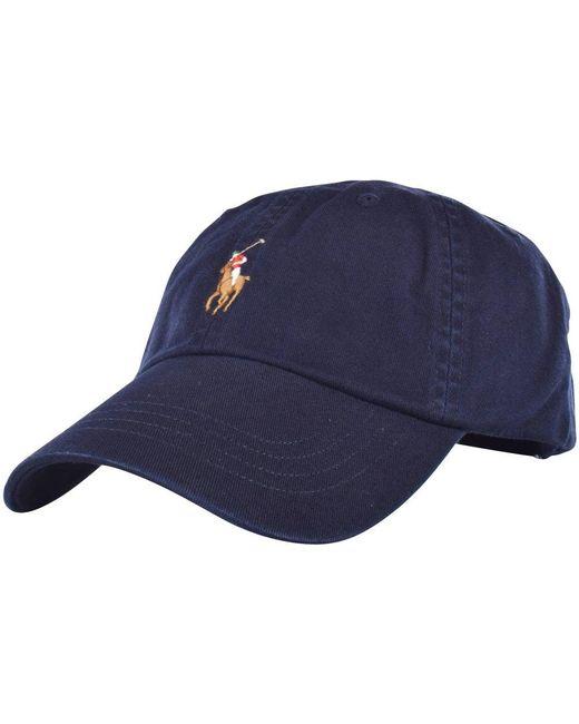 6e8aadea27880d Polo Ralph Lauren - Blue Navy Classic Baseball Cap for Men - Lyst ...
