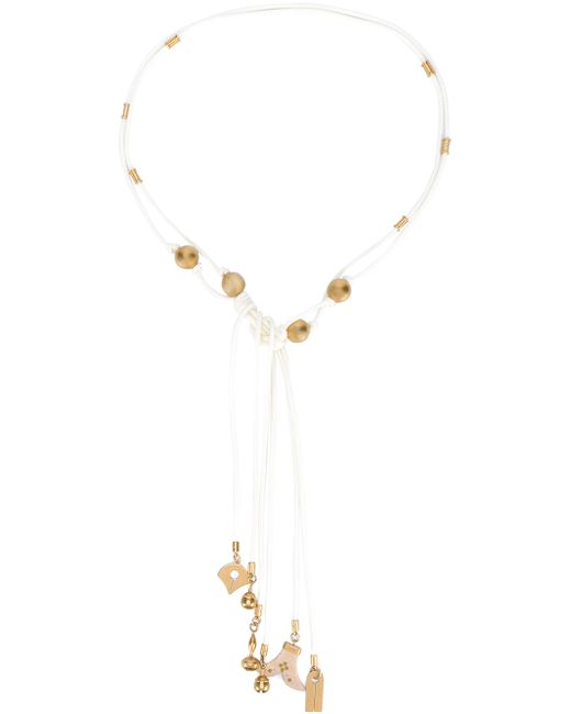 Chloé | White Janis Tie Necklace | Lyst