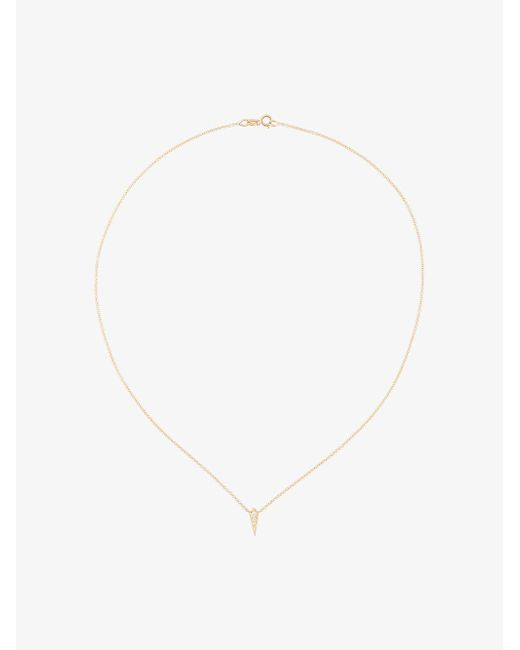 Lizzie Mandler - Metallic 18kt Gold And Diamond Single Kite Necklace - Lyst
