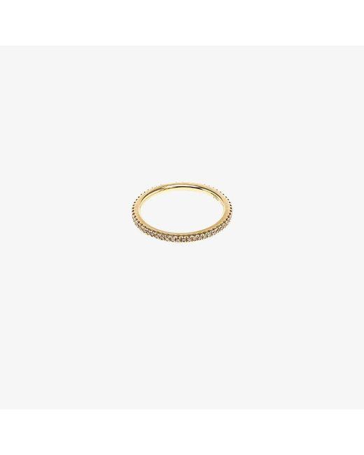 Rosa De La Cruz | Metallic 18k Yellow Gold & Diamond Midi Ring | Lyst