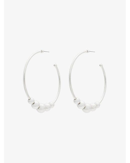 DANNIJO - Gray Silver Plated Edna Large Hoop Earrings - Lyst