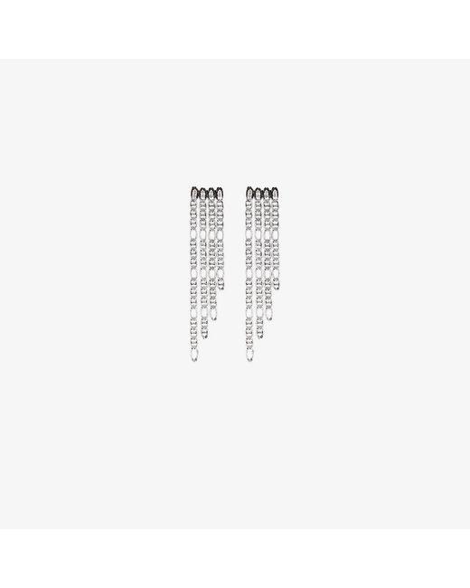 DANNIJO   Metallic Yvonne Chain Drop Earrings   Lyst