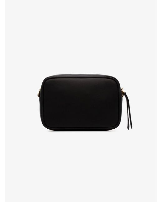 e85a2135bca0 ... Fendi - Black Logo Embossed Mini Leather Camera Bag - Lyst ...