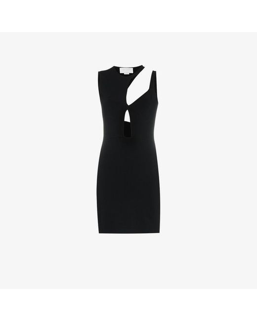 Esteban Cortazar - Black Cut Out Mini Dress - Lyst