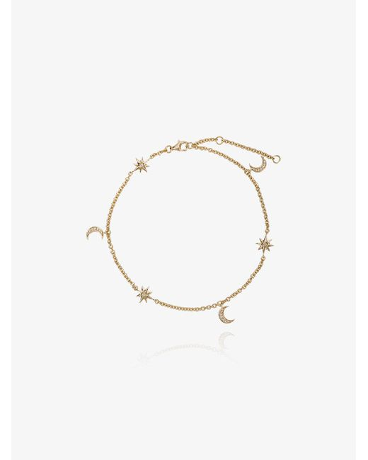 SHAY - Metallic Moon And Starlet Anklet - Lyst