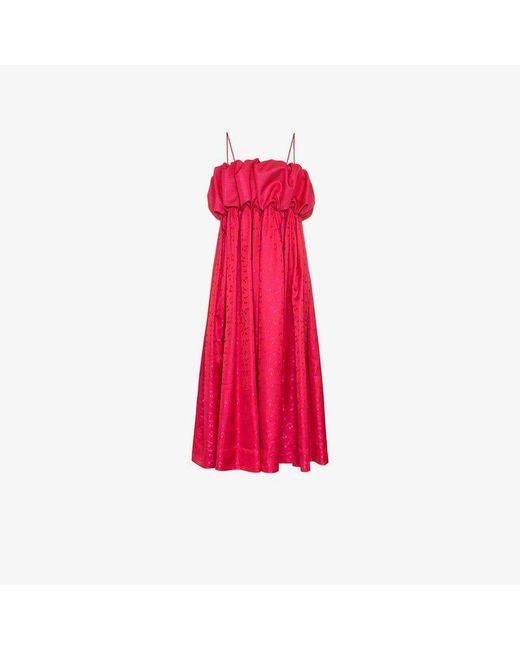 N-Duo - Pink Sleeveless Cherry Print Dress - Lyst