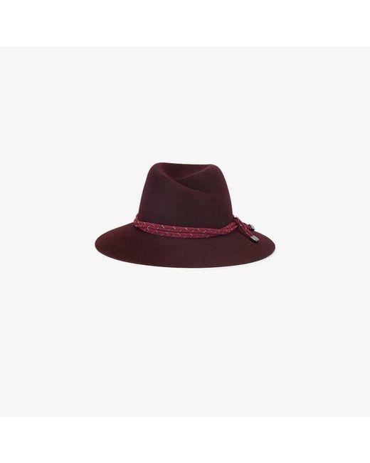 Maison Michel - Red Purple Virginie Rope Band Rabbit Felt Hat - Lyst