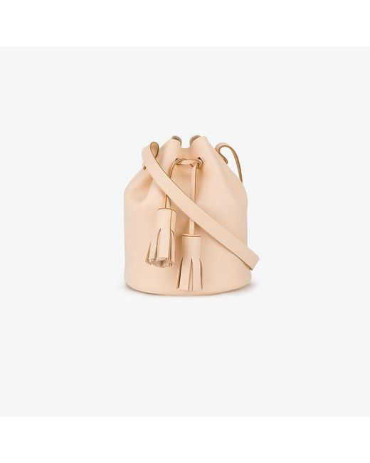 Building Block - Natural Peach Tassel Leather Bucket Bag - Lyst