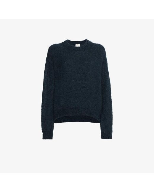 Acne - Blue Mitra Knitted Mohair Blend Jumper - Lyst