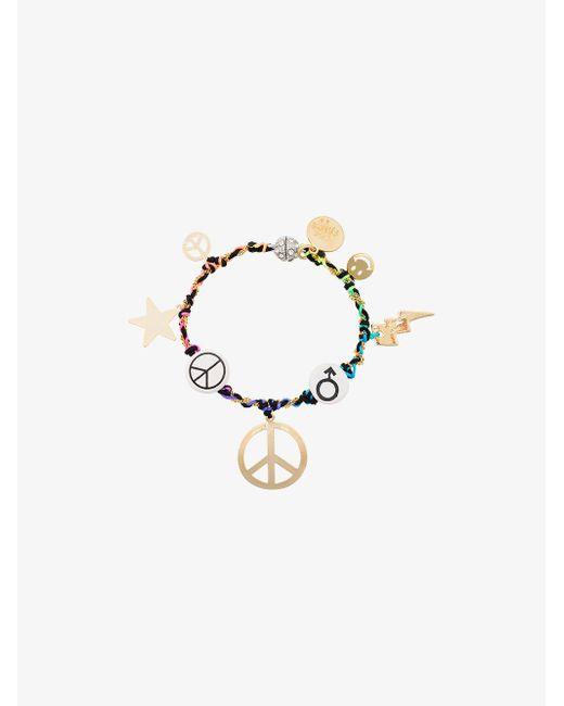 Venessa Arizaga - Metallic Peace Charm Bracelet - Lyst