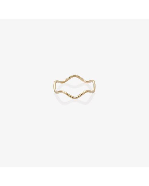 Sabine G - Metallic Yellow Gold Wave Ring - Lyst