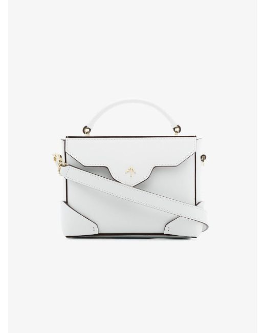 MANU Atelier - White Micro Bold Bag With Chain - Lyst