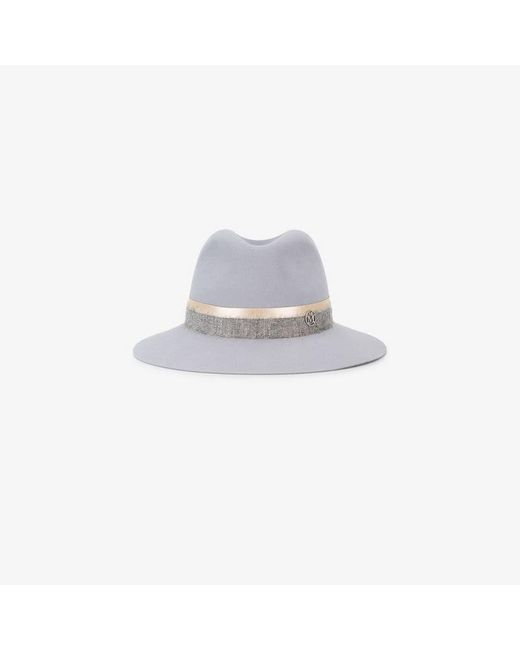Lyst - Maison Michel Grey Henrietta Fedora Hat in Gray - Save ... f12f9a43ac98