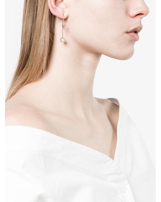 Asherali Knopfer 18k Rose Gold Mix and Match 2 spike earring - Metallic bptiI8Q