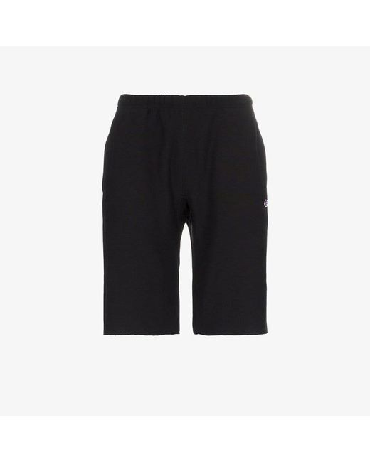 f1556ed6d970 Lyst - Champion Black Reverse Weave Terry Cotton Shorts in Black for Men