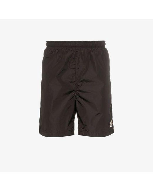 f39100a31e5d Lyst - Moncler Genius Logo Tag Nylon Shorts in Black for Men
