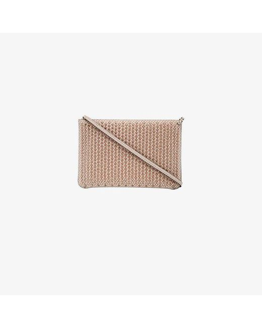 Christian Louboutin - Pink Quadro Spike Embellished Glitter Clutch - Lyst