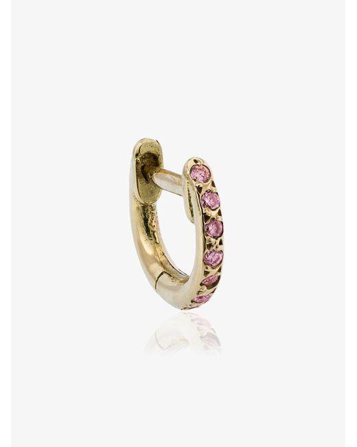 Ileana Makri - Metallic Rose Gold Mini Hug-hoop Earrings - Lyst