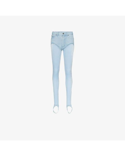 Y. Project Blue High Rise Stirrup Jeans