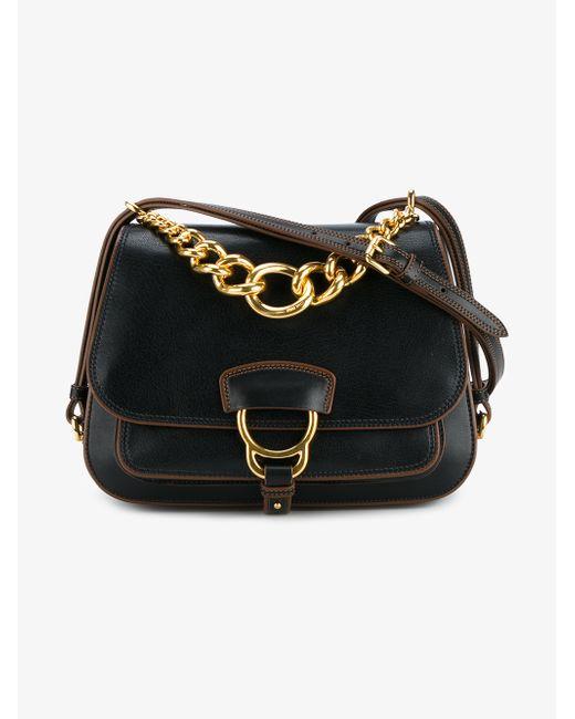 Miu Miu | Multicolor Large Dahlia Madras Leather Saddle Bag | Lyst