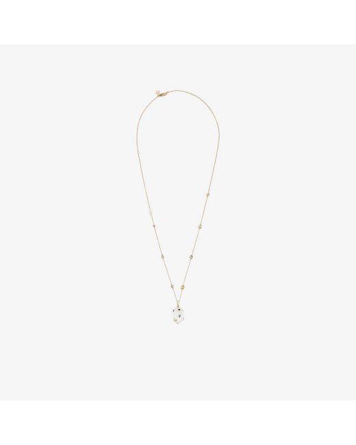 Bibi Van Der Velden - Metallic Mammoth Egg Crystal Chain Necklace - Lyst