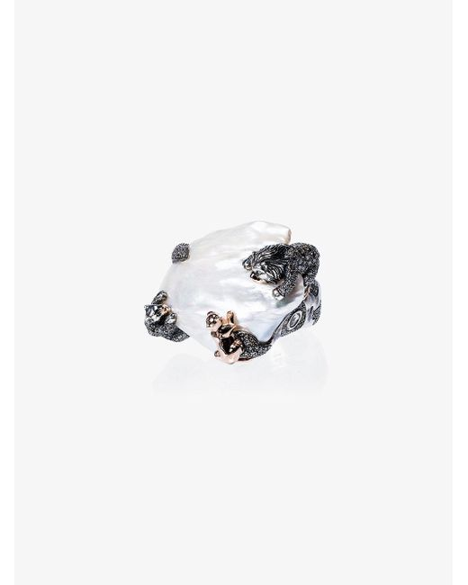 Bibi Van Der Velden - Metallic 18k Rose Gold Animal Family Lion Ring - Lyst