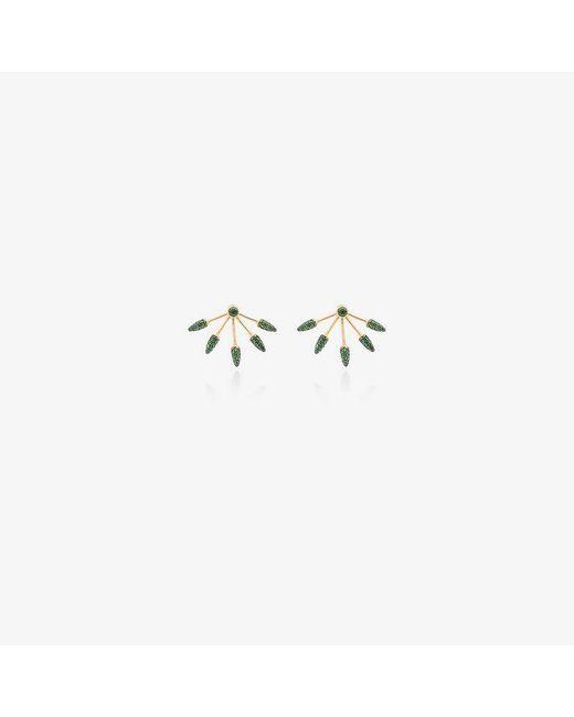 Pamela Love - Green Diamond Five Spike Earrings - Lyst