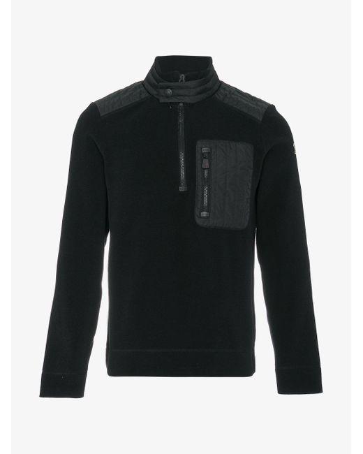 Moncler Grenoble   Black Zipped Fleece Sweatshirt for Men   Lyst