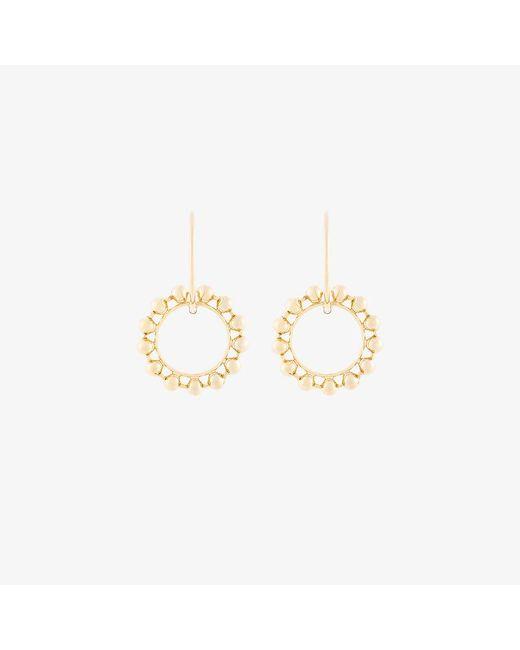 DANNIJO   Metallic Fawn Double Hoop Earrings   Lyst