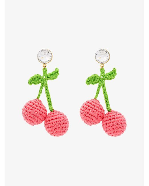 Venessa Arizaga - Pink Cherry Earrings - Lyst
