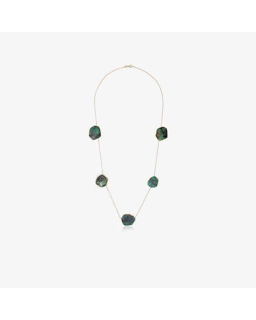 Kimberly Mcdonald - Metallic Sliced Emerald Necklace - Lyst