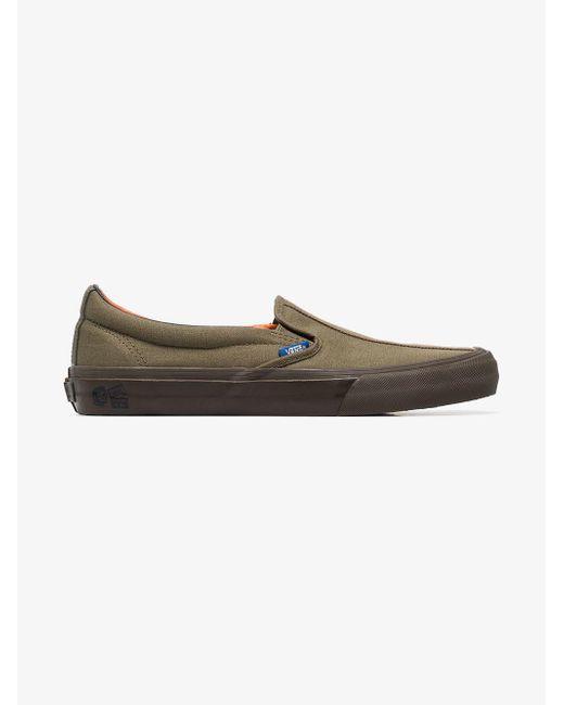 a2e67cf297 ... Vans - Multicolor Green Vault Cotton Slip On Sneakers for Men - Lyst ...