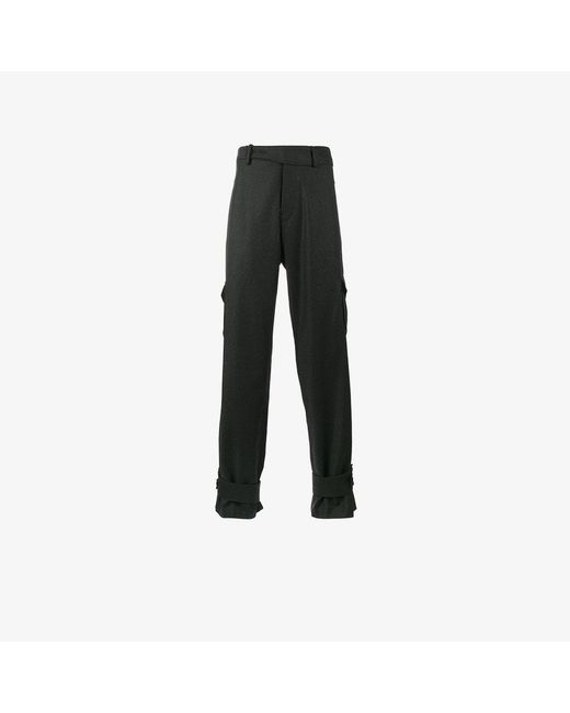 J.W. Anderson | Gray High Waisted Cargo Trousers for Men | Lyst