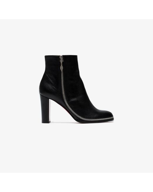 Christian Louboutin - Black Adox 85 Leather Boots - Lyst