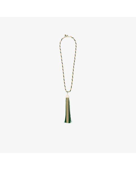 Rosantica - Metallic Brass Corda With Oversized Tassle Pendant Necklace - Lyst