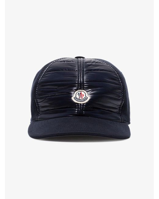d7cba768034 ... Moncler - Navy Blue Logo Patch Cotton Cap for Men - Lyst ...
