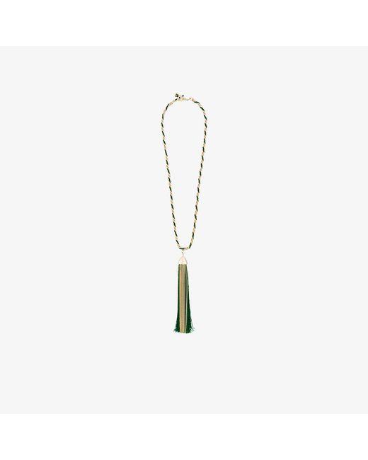 Rosantica | Metallic Corda Necklace With Oversized Tassle Pendant | Lyst