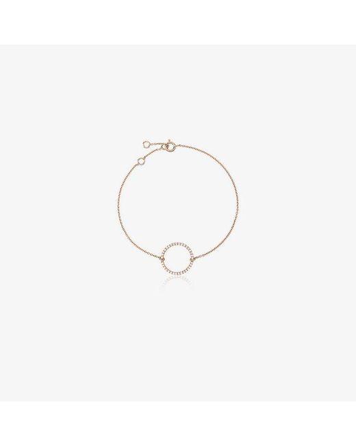 Rosa De La Cruz - Metallic 18k Rose Gold Eternity 15 Diamond Bracelet - Lyst