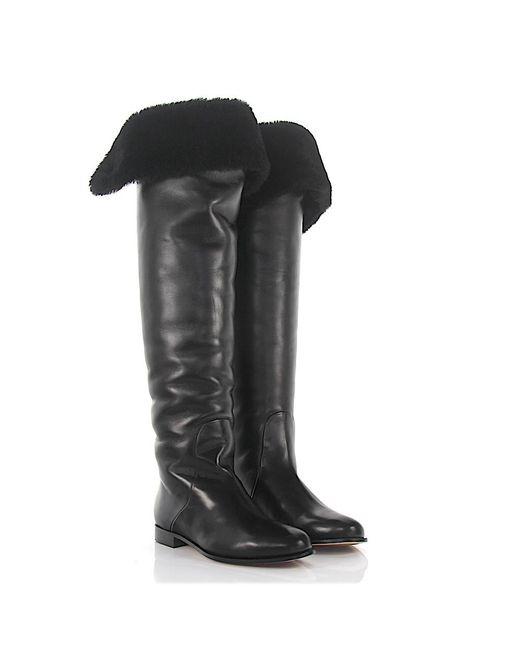Jimmy choo Overknees Boots lamb fur nappa leather ni2geITS