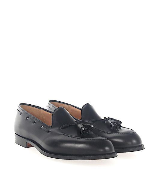 Crockett and Jones - Tassel Loafer Cavendish Calfskin Black for Men - Lyst