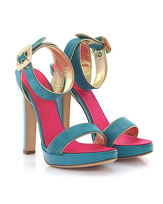 DSquared² - Blue Platform Sandals - Lyst