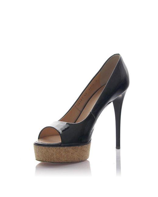 Giuseppe Zanotti | Pumps Peeptoes Dalila 05 Patent Leather Black | Lyst