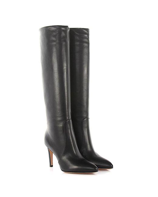 Gianvito Rossi - Knee Boots Dana Nappa Leather Black - Lyst