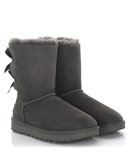 UGG Boots BAILEY BOW 2 suede oliv lamb fur FCO5BpB