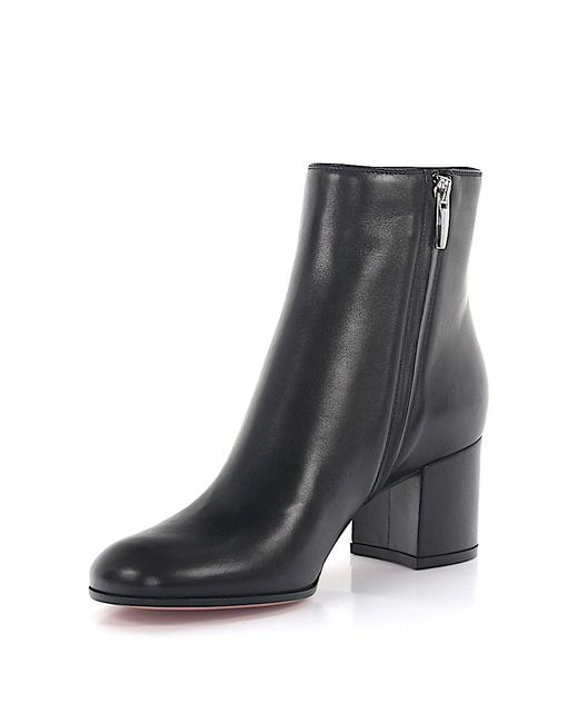 Gianvito Rossi | Boots Margaux Mid Bootie Nappa Leather Black | Lyst